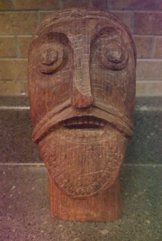 Carved Viking Head From The Oseberg Ship Grave Dated About 834 Ad Replica photo