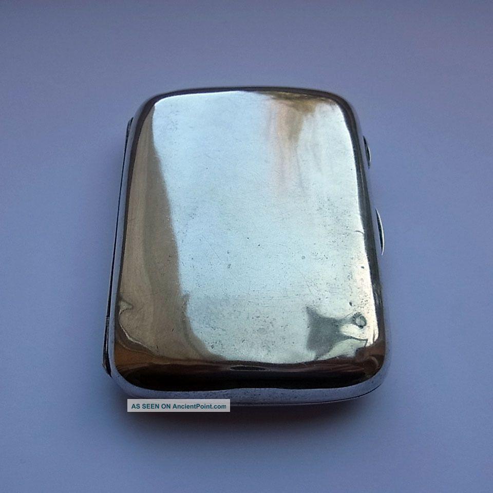 Antique Sterling Silver Cigarette Case - Chester 1896 - Stokes & Ireland - 72.  6g Cigarette & Vesta Cases photo