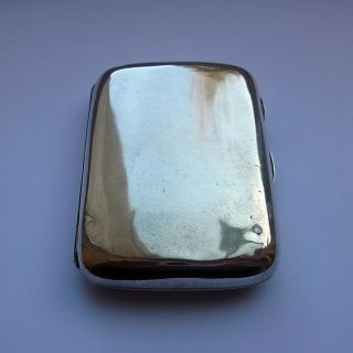 Antique Sterling Silver Cigarette Case - Chester 1896 - Stokes & Ireland - 72.  6g photo