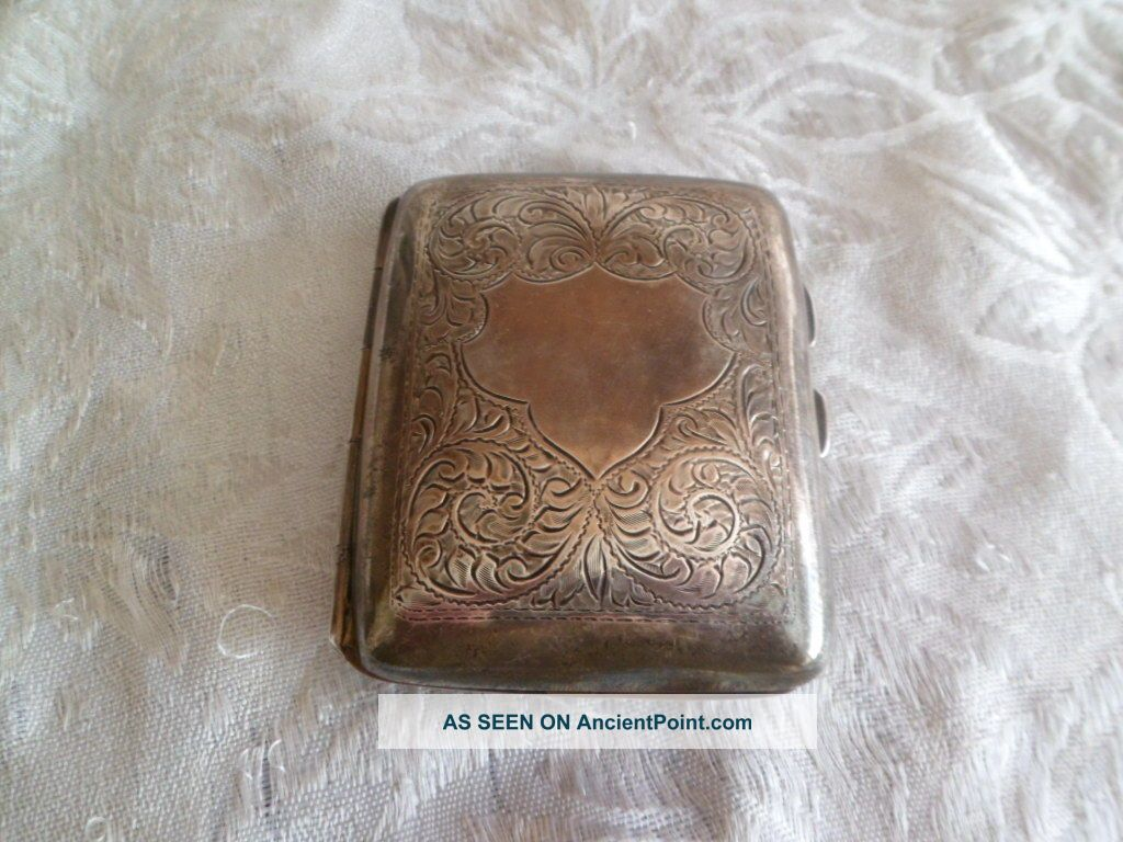 Silver Cigarette Case Cigarette & Vesta Cases photo