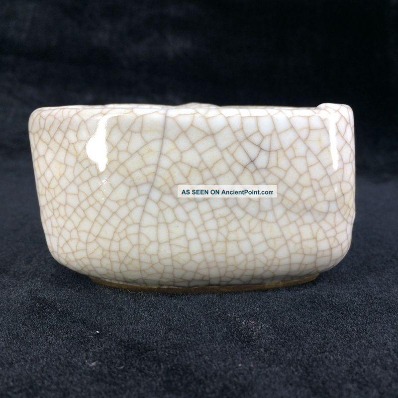Chinese Antique Kiln Porcelain Ducking Writing Brush Washer Bat Jar Pots photo