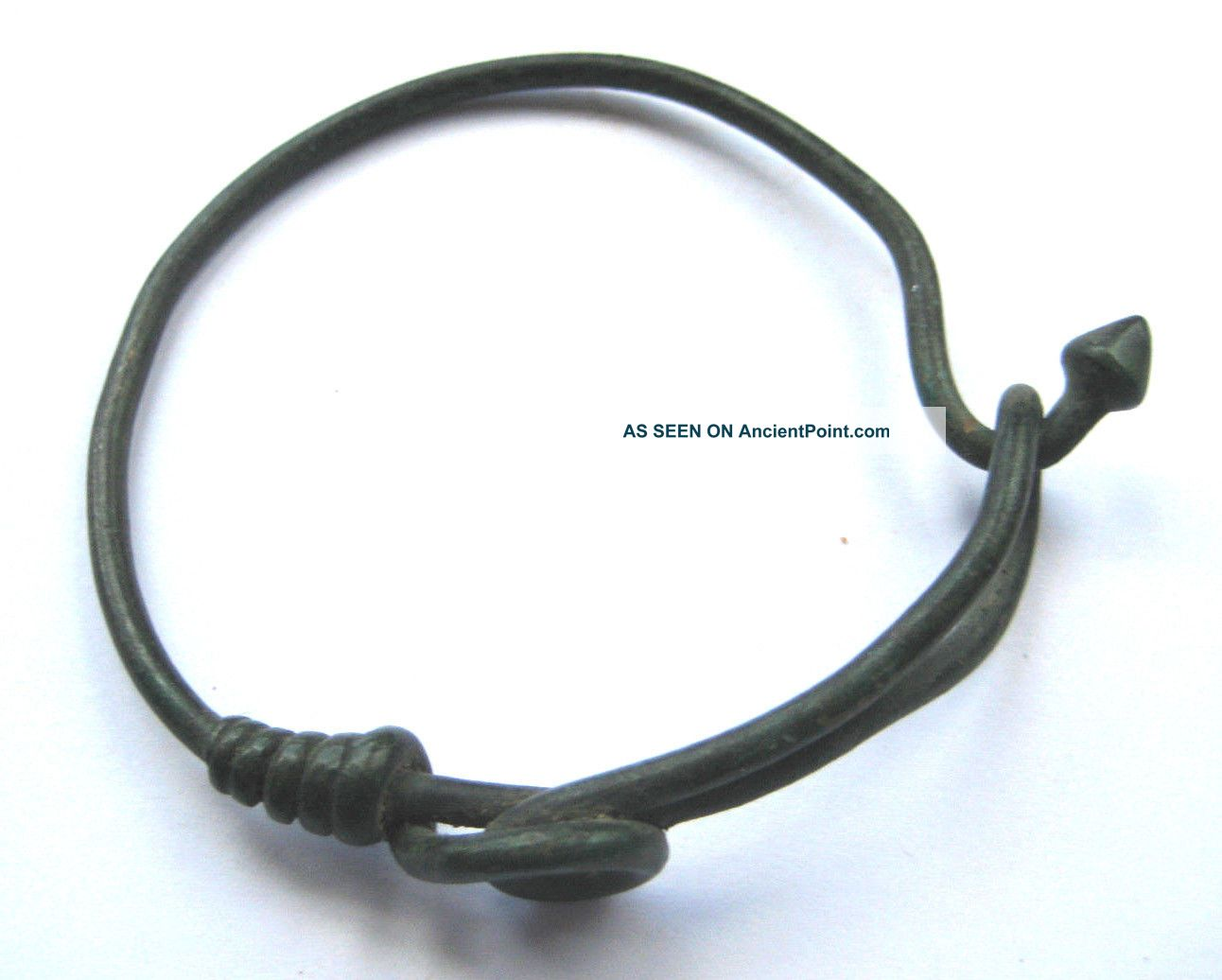 Rare Circa.  2500 - 500 B.  C Bronze Age Celtic Bronze Wrist Torc British photo