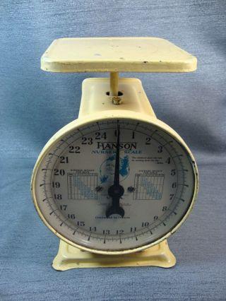 Vintage Hanson Nursery Scale 1950 ' S Yellow Metal 25lb photo