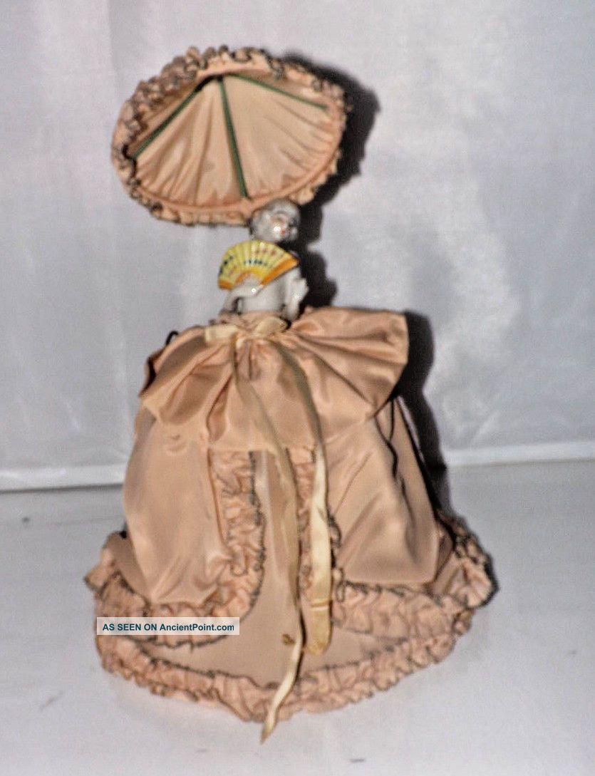 Vintage Deco Era Boudoir German Half Doll Bed Lamp / Night Light Shade S1 Lamps photo