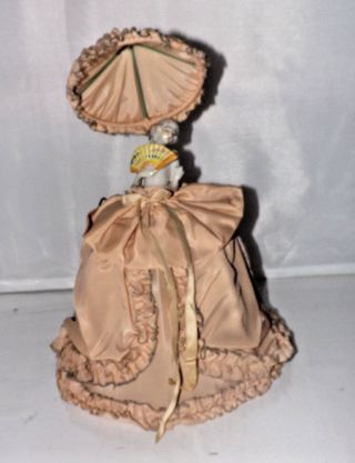 Vintage Deco Era Boudoir German Half Doll Bed Lamp / Night Light Shade S1 photo