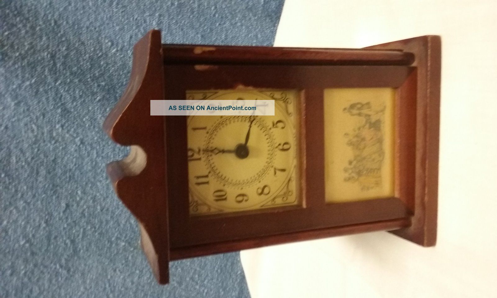The Burroughs Company No.  48 T - Georgian Mini Mantle Clock Other Antique Home & Hearth photo