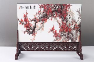 """Exquisite Ancient Chinese Painting """" Flower """"screen Scroll H744 photo"""