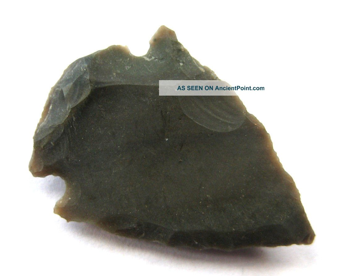 Circa.  1000 B.  C Bronze Age Celtic Bronze Tri - Lobe Socketed Arrow Head British photo
