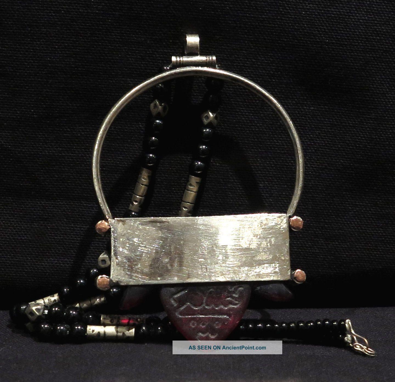 Tuareg Talisman – Hajj Red Glass - Mali / Niger Jewelry photo