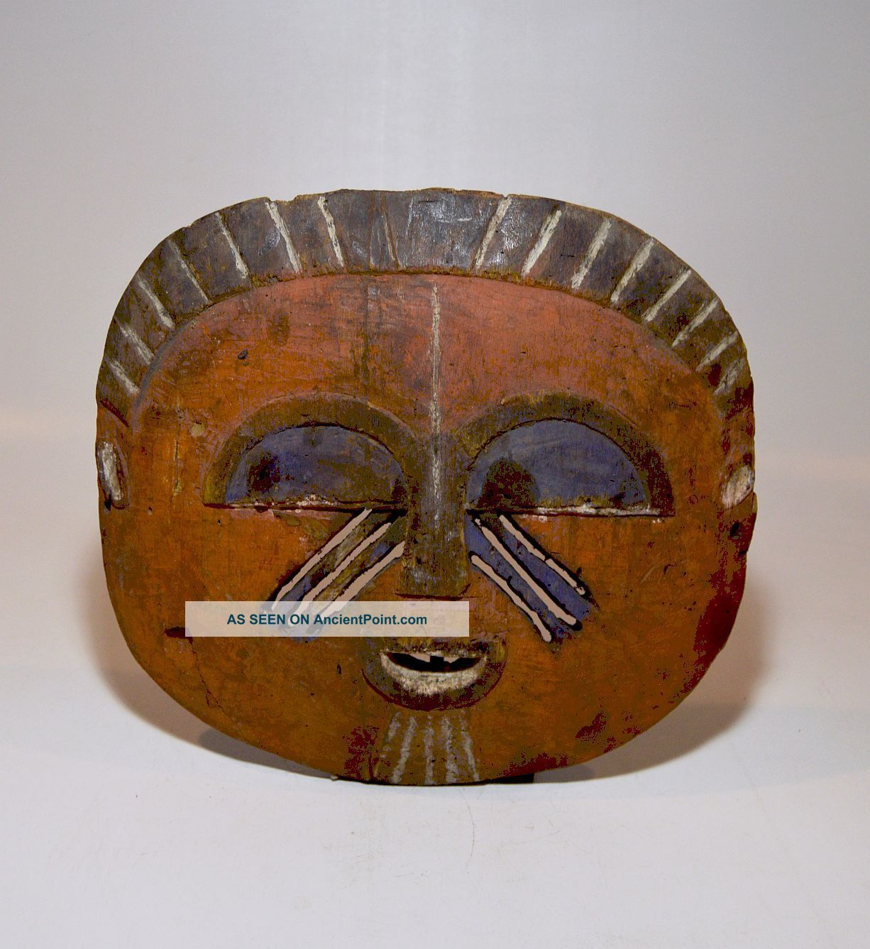 A Very Rare Old Mbole Yela African Mask,  African Art Masks photo