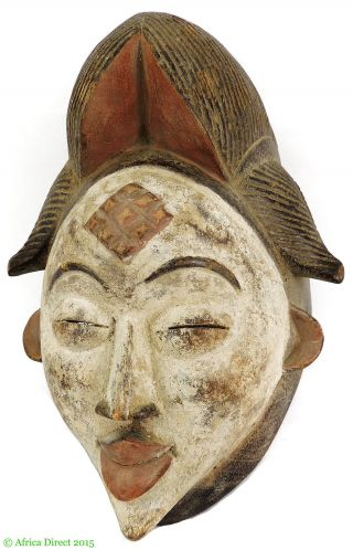 Punu Mask Maiden Spirit Mukudji Gabon African Art photo