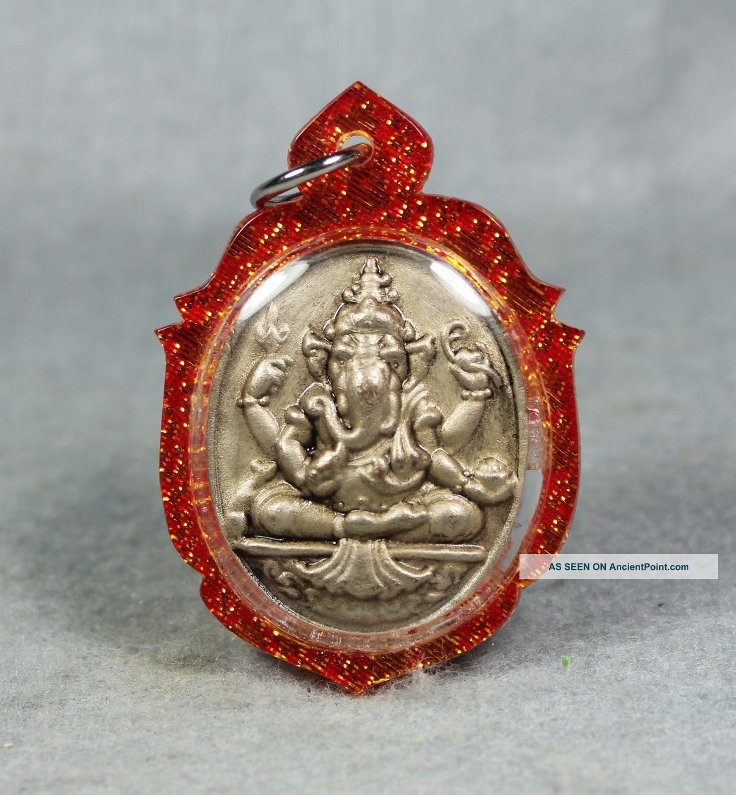 Pendant V.  Mahalap Ganesha Deity Of Lucky Success Elephant Thai Amulet Buddha 2 Amulets photo