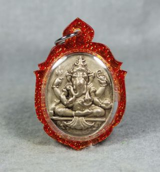 Pendant V.  Mahalap Ganesha Deity Of Lucky Success Elephant Thai Amulet Buddha 2 photo