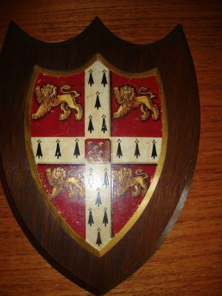 Cambrige University Coat Of Arms Circa 1900 Large - Heraldry Knight Shield Lion photo