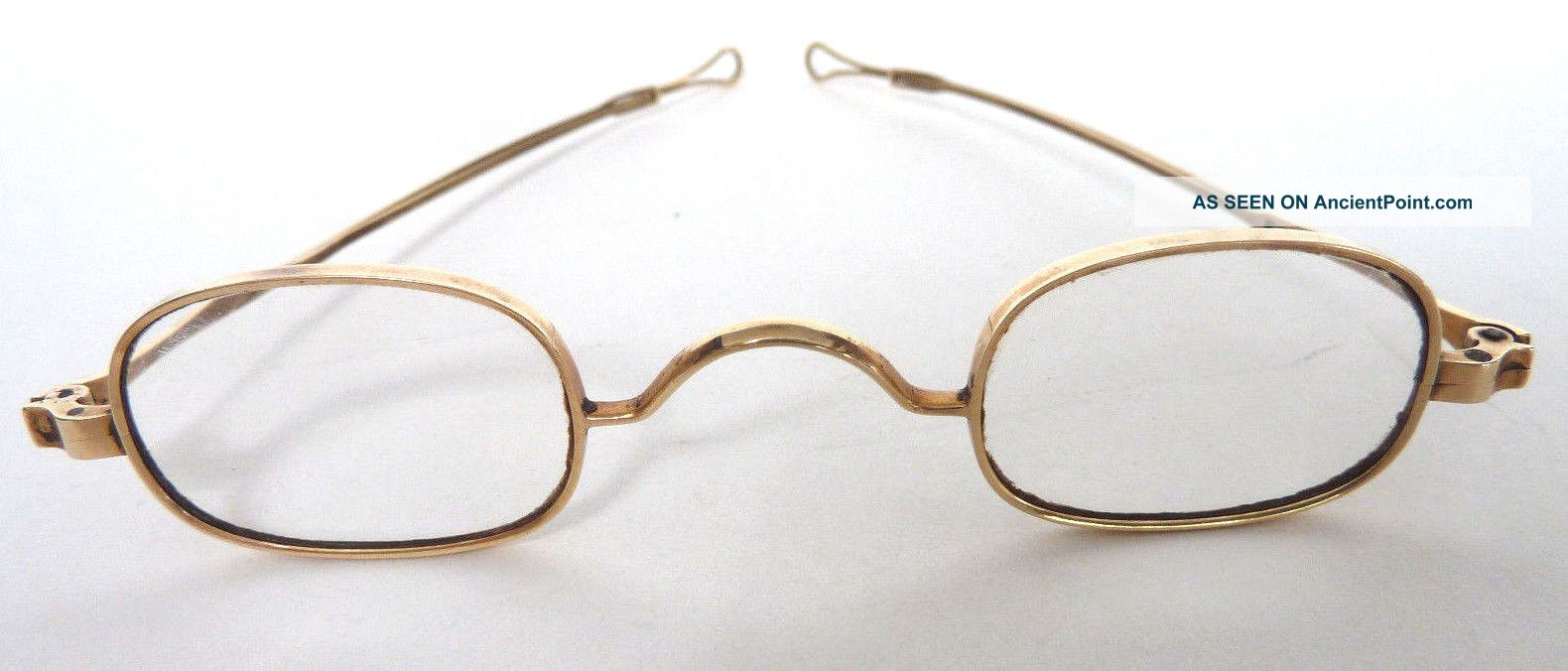 Gold Spectacles Belonged To Rev.  Elijah Sutton,  Jefferson County,  Ky,  19th C 14k Optical photo