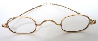 Gold Spectacles Belonged To Rev.  Elijah Sutton,  Jefferson County,  Ky,  19th C 14k photo
