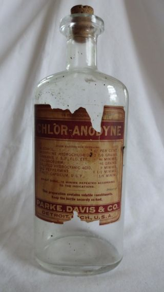 Antique Cannabis Morphine Parke Davis Apothecary Marijuana Extract Bottle photo