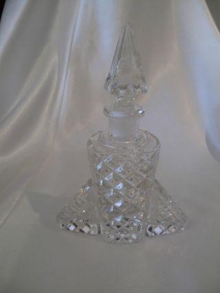 Art Deco Hand Cut Glass Perfume Bottle photo