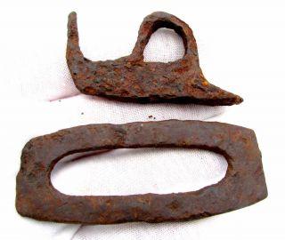 Roman Iron Fire Starters - Lovely Military Legionary Artifact - D910 photo