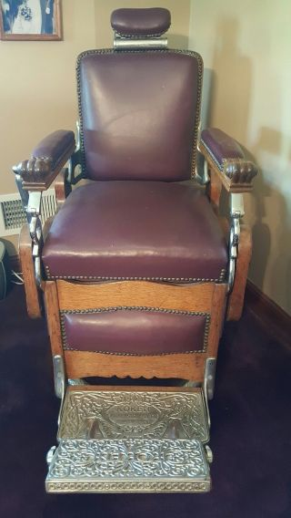 Antique Koken Barber Chair Model 1881 photo