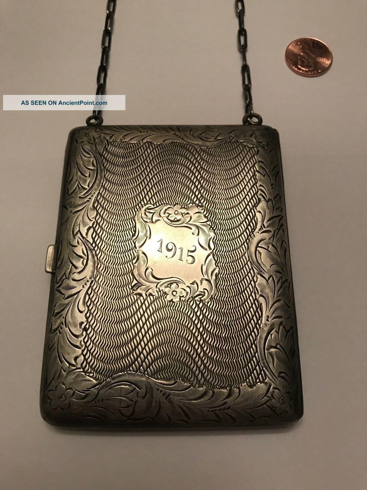 . 975 Sterling Silver,  1915 Wallet Case Purse