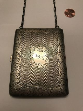 . 975 Sterling Silver,  1915 Wallet Case Purse