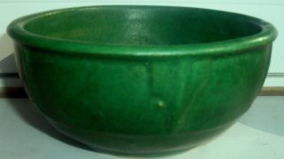 Mission Style American Arts & Crafts Matte Green Pottery Bowl Grueby Teco Era photo