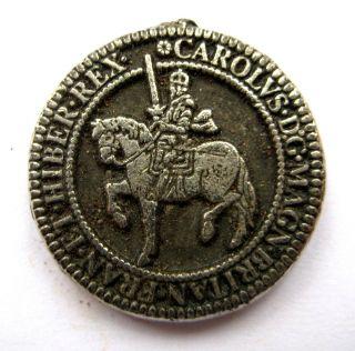 England King Charles I Pewter Medal - Undated photo