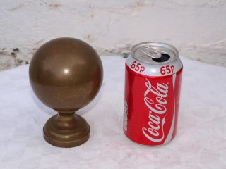 Large Reclaimed Victorian Bronze Or Brass Bed Frame Knob Finisher Finial - 86mm photo
