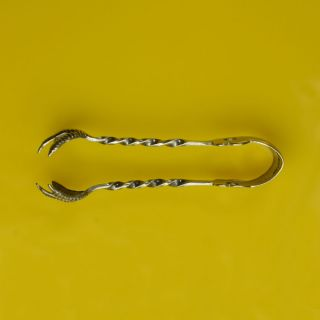 Raven Claw Sugar Or Lemon Tongs In Sterling Silver,  For The Funky Bar Tender photo