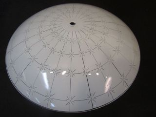 1950 Mid Century Modern Atomic Sunburst Glass Ceiling Light Shade Eames photo