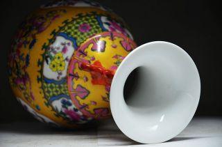 Chinese Porcelain Handwork Subshrubby Peony Flower Vase photo