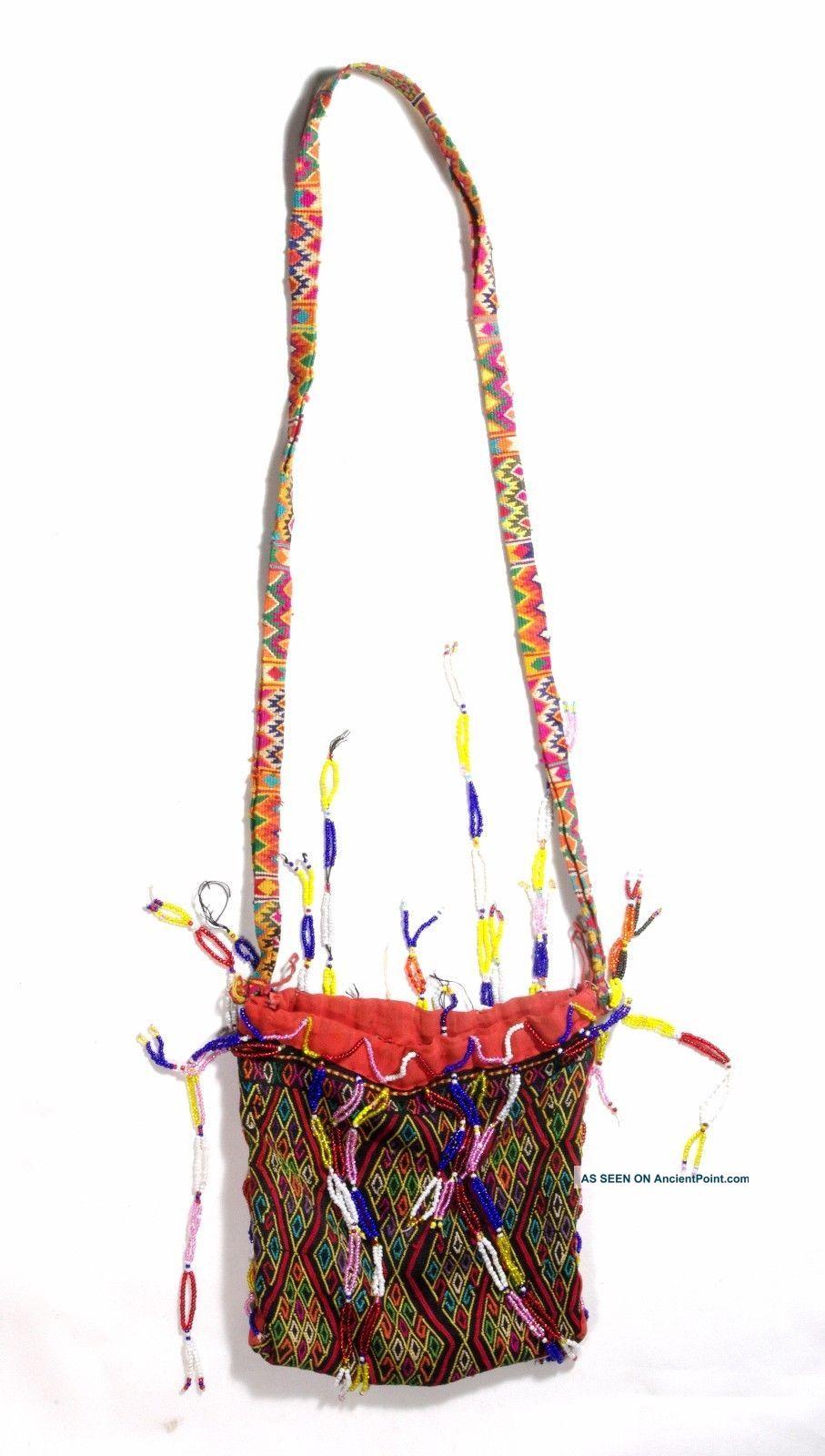 Timor Hand Made Textile Purse Bag - Atoni - Tribal Artifact Pacific Islands & Oceania photo
