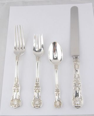 Antique Tiffany & Co.  English King Sterling Silver Place Setting 1 photo