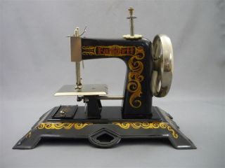 Antique Favorit Miniature Hand Crank Sewing Machine Child ' S Toy Vintage Germany photo
