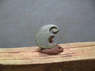Crescent Moon Amulet Ancient Celtic Bronze Cosmic Talisman 400 - 200 B.  C. photo