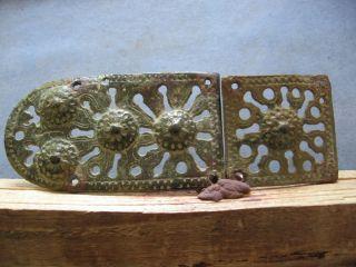 Large Engraved Ancient Celtic Open Work Bronze Warriors Belt Buckle 500 - 300 B.  C. photo