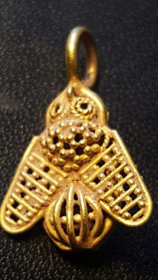 Roman Pure Solid 24ct Gold Bee Pendant.  Last One I Was Going To Keep For Myself photo