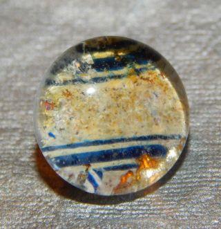 Antique Vintage Glass Button Striped Kaleidoscope 334 - A photo