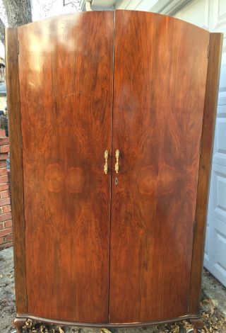 Art Deco Flame Mahogany Armoire Cws Cabinet Birmingham England photo