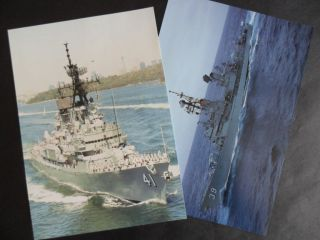 Naval Hmas Hobart (d39) & Brisbane (d41) Welcome Aboards (flimsy) 1990 ' S photo