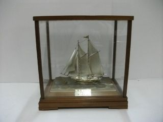 The Sailboat Of Silver960 Of Japan.  2masts.  73g/ 2.  57oz.  Takehiko ' S Work. photo
