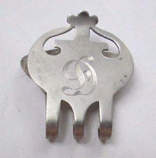 Antique Rlb Rogers Lunt & Bowlen Sterling Silver Napkin Clip