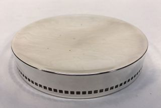 Swid Powell Silver Plate Mid Century Modern Modernist Plate Bowl Candy Dish photo