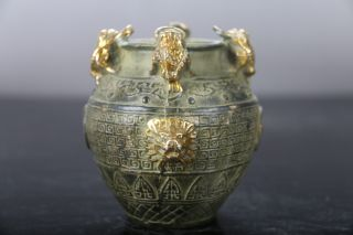 Exquisite Chinese Old Hand - Carved Brone Ware Pot Xuande Mark E585 photo