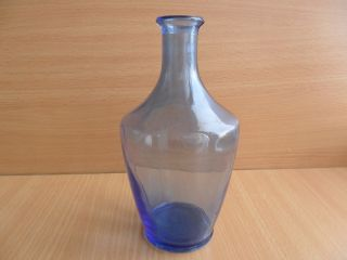 Vintage Blue Glass Decanter Home Kitchen Of The Ussr 1940 photo