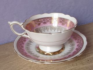 Vintage Royal Stafford Pink And White Daisies English Bone China Tea Cup Teacup photo