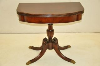 Regency Style Mahogany Flip Top Game Card Table photo