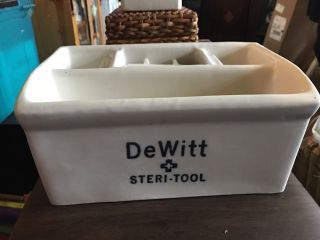 Vintage De Witt Steri - Tool Barber Sanitizer W/ 2 Dividers/ Insert photo