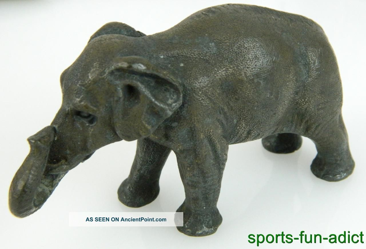Antique Meriden Brittania Silverplate 409g Elephant Figural Paperweight Other Antique Silverplate photo